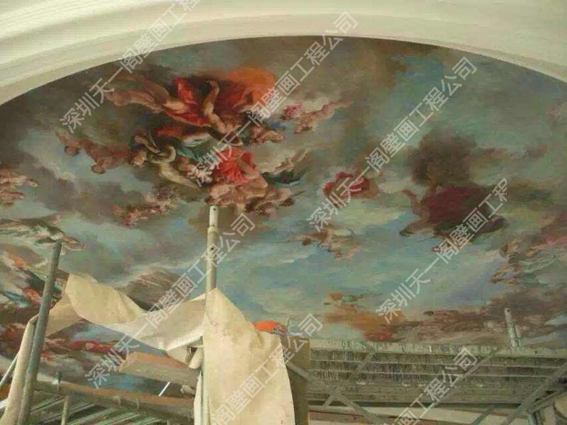 3d壁画 欧式壁画 手绘 壁画 壁画工程 壁画定制 彩绘